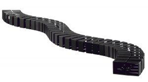 Cable Snake Cube MX black height adjustable desk cable management OE Elsafe