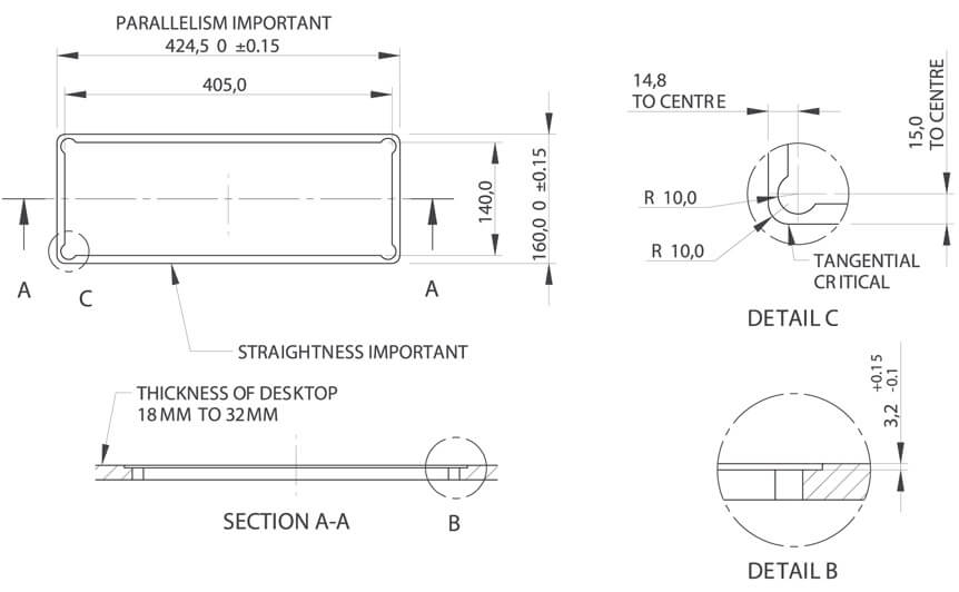 GENIE In Desk Box fitting instructions OE Elsafe