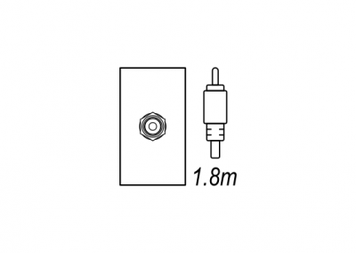 RCA, audio visual desk box, floor box OE Elsafe