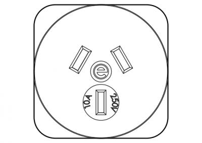 Australian power socket 10A OE Elsafe