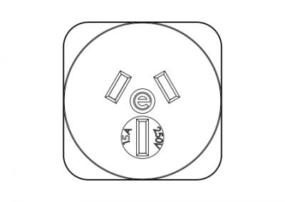 Australian power socket 15A OE Elsafe