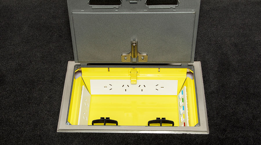 Floor box stainless steel soft close power Eagle OE Elsafe