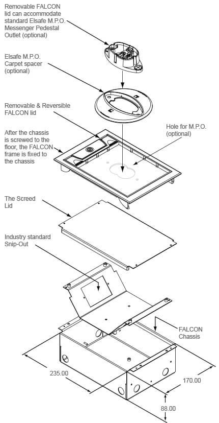 Falcon floor box diagram OE Elsafe