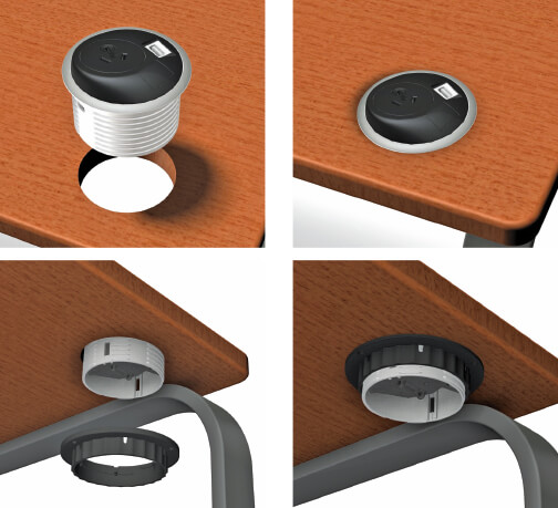 Pixel powered desk grommet OE Elsafe