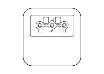 Power box Wieland single power snapin OE Elsafe