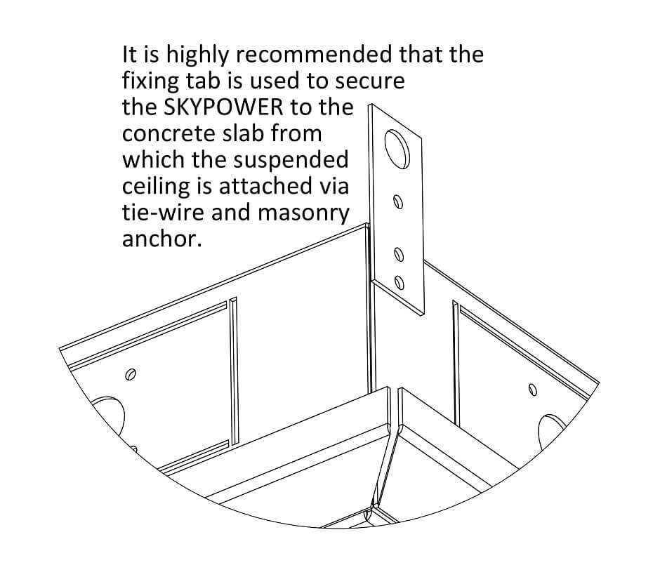 Skypower ceiling box fitting OE Elsafe