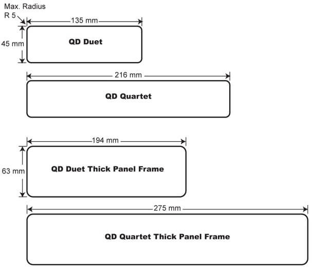 QD screen mounted power and data OE Elsafe