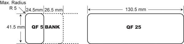 Qikfit data cutout dimensions OE Elsafe