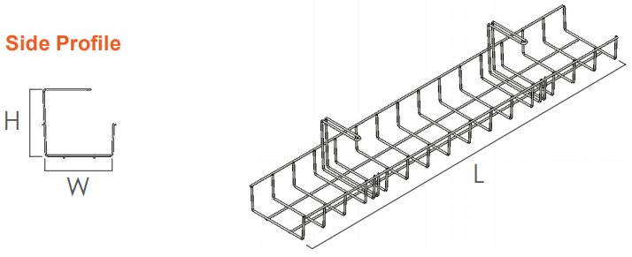 Runner wire basket cable tray single OE Elsafe