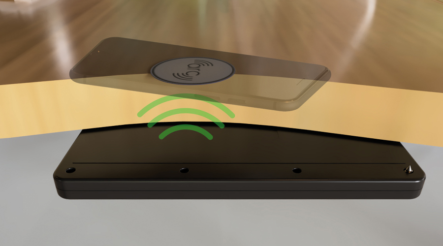 arc-h no routing hidden wireless charger